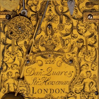 Daniel QUARE and Stephen HORSEMAN, London, N° 226, Queen Anne ebony striking bracket clock, circa 1710