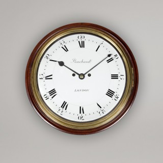 PANCHAUD. RARE ENAMEL DIAL 8-DAY STRIKING WALL CLOCK, circa 1775