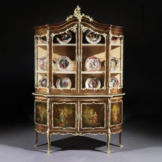A Vitrine Cabinet in the Louis XV Vernis Martin Manner