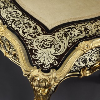 A Bureau Plat in the Louis XIV Manner By Toms and Luscombe shown at the 1862 International Exhibition, London
