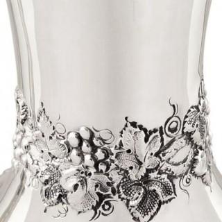 Antique Victorian Sterling Silver Wine Ewer / Claret Jug 1879