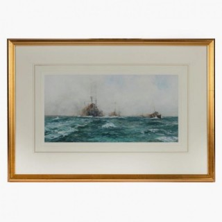 Watercolour by William Birchall, THE EVER READY. Dated 1914