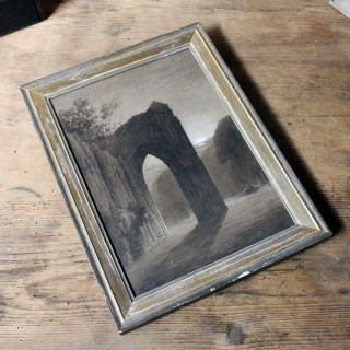 A Watercolour Study of a Gothic Ruined Abbey c.1900
