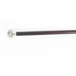 Antique Walking Stick Cane Silver Pommel 19th C