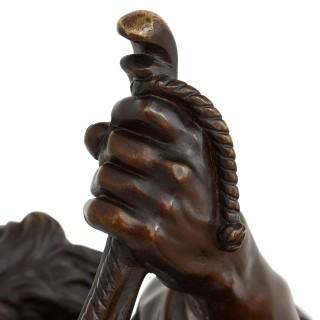 'Ulysses Bending His Bow', 19th Century bronze sculpture