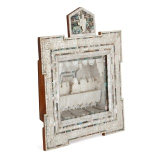 19th Century Holy Land mother of pearl icon
