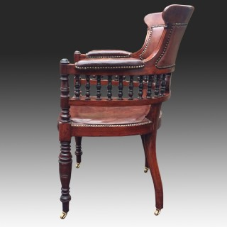 Antique Aesthetic Movement Walnut Desk Chair