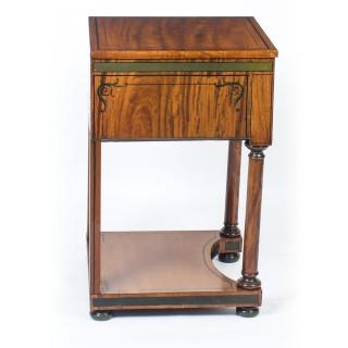 Antique Victorian Satinwood Pedestal Bedside Cabinet C1860