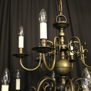 Flemish Bronze 12 Light Antique Chandelier