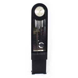 Antique Art Deco Black Lacquer Chiming Longcase Clock c.1935