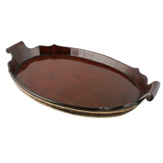 Dutch Oval Mahogany Tray