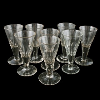 Set of Eight Georgian Sherry Glasses