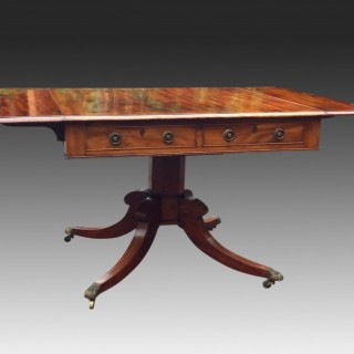 Antique English Regency Mahogany Sofa Table