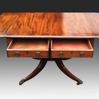 Antique English Regency Mahogany Sofa Table