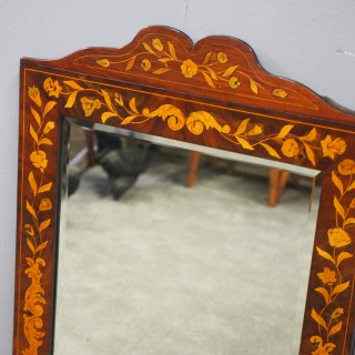 Dutch Marquetry Wall Mirror