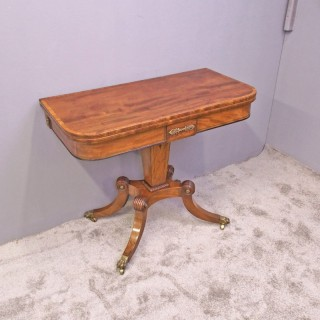 George III Inlaid Mahogany Games Table