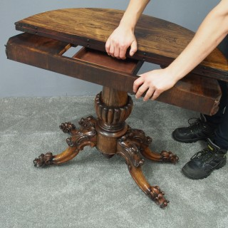 Victorian Rosewood Games Table
