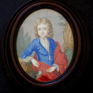 An 18th century portrait miniature of Montague Garrard Drake of Shardiloes (1642-1728) MP for Amersham and Buckinghamshire,