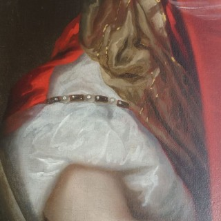 Pieter Nason (Amsterdam  1612-c.1690 The Hague) A Lady in Red with Pearls