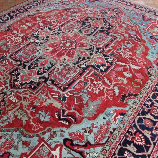 Antique Heriz carpet, Persia
