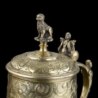 A silver gilt Renaissance Tankard