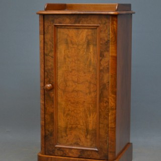 A Victorian Walnut Bedside Cabinet