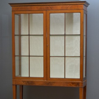 Elegant Edwardian Display Cabinet