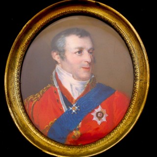 Napoleonic portrait miniature of Arthur Wellesley,1st Duke of Wellington (1769-1852), watercolour on ivory
