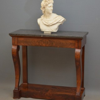 Elegant Regency Mahogany Console Table