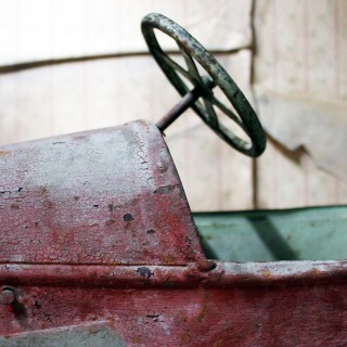 An Early 20thC French Child's Painted Metal Pedal 'Special' Racing Car c.1920-25