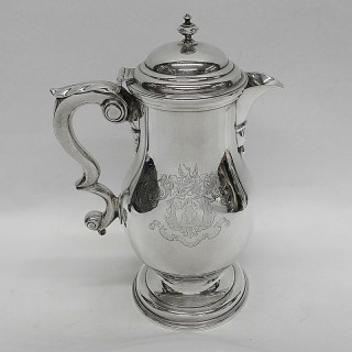 George II Silver Covered Beer Jug