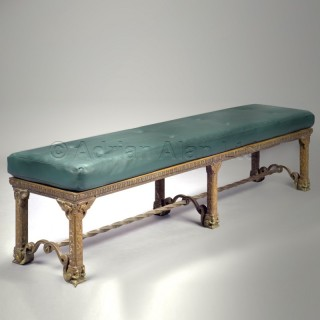 A Fine Bronze Hall Bench