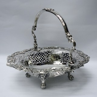 Antique George II Silver Basket