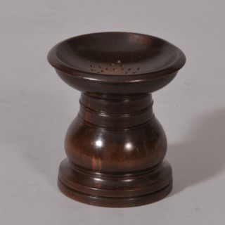 S/3096 Antique Treen 19th Century Fruitwood Pounce Pot