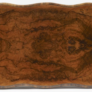 A Walnut Serpentine Card Table Firmly Attributed to Gillows
