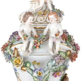 Pair of 19th Century Dresden porcelain vases