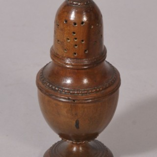 Antique Treen 18th Century Sycamore Muffineer