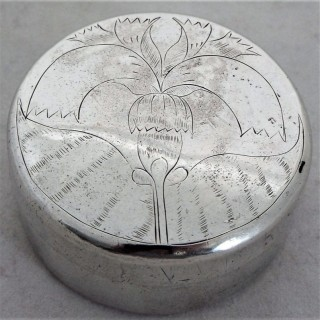 Rare engraved Charles II silver box London 1681 Hawkes