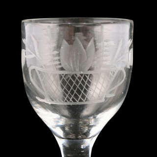 18th Century Georgian Wine Glass