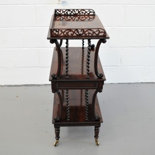 Rare amd unusual Regency Etagere