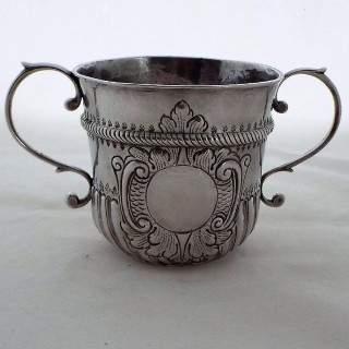 Quality Queen Anne Britannia silver porringer London 1713 Gabriel Sleath