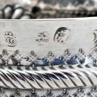 This very nice Queen Anne Britannia silver porringer was made in London in 1708 by Thomas Holland I