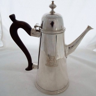Extremely rare provincial George I coffee pot C1720 Liverpool maker Benjamin Branker