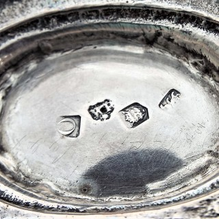 Super pair George II cast collet foot sauce or gravy boats London 1729 William Paradise