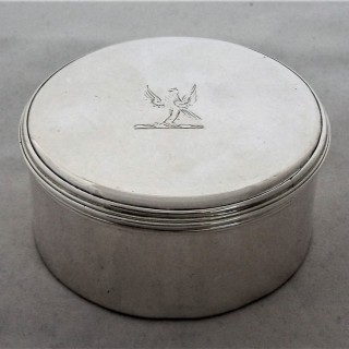 Super quality George III silver tobacco box London 1806 William Plummer