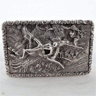 Super quality William IV silver Mazeppa snuff box Birmingham 1835 Edward Smith