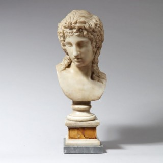 GRAND TOUR STATUARY MARBLE BUST OF EROS DI CENTOCELLE
