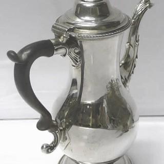 George III Silver Chocolate Pot