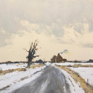 February Snow - North Norfolk by Ian Houston (b.1934)