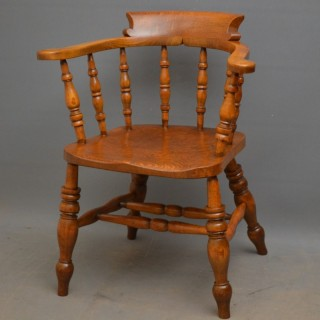 Victorian Ash and Elm Smokers Bow Chair